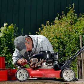 Lawn mower start guide