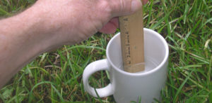 Measuring water sprinkler delivery to your lawn